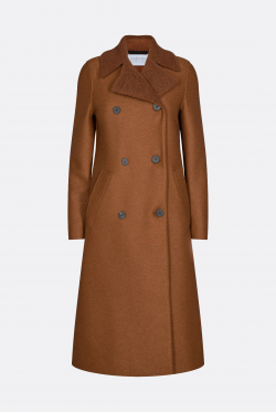 Harris Wharf London Military Bouclé Coat
