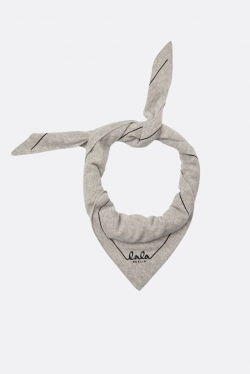 Lala Berlin Triangle Solid Logo M Scarf