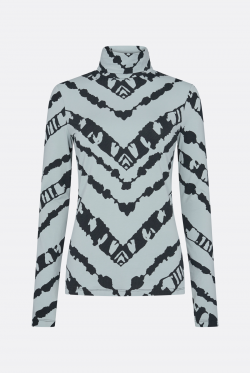Proenza Schouler White Label Sheer Stretch Jersey Bluse