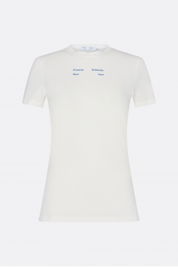 Proenza Schouler White Label Solid Stretch Jersey T-shirt