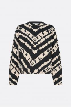 Proenza Schouler White Label Animal Jacquard Cropped Bluse