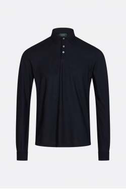 Zanone Ice Cotton Langærmet Polo T-shirt