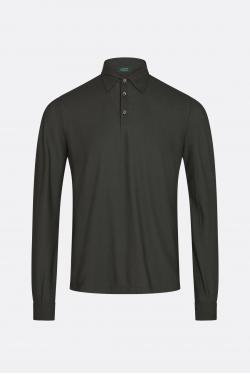 Zanone Ice Cotton Long-sleeved Polo T-shirt