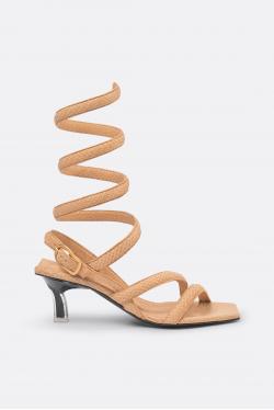 Dorothee Schumacher Desert Vibes Wrap Kitten Heel Sandals