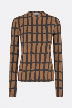 Proenza Schouler White Label Painted Grid Jersey Top