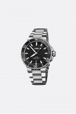 Oris Aquis Polished Black Watch