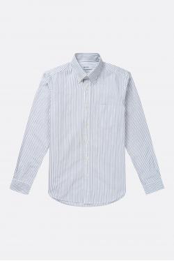 An Ivy Narrow Striped Oxford Shirt