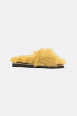 Dorothee Schumacher Furry Fantasy Furry Footbed Sandaler