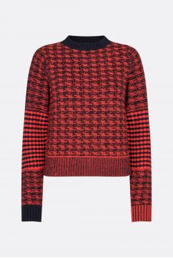 Victoria Beckham Textured Houndstooth Knit