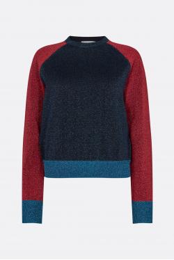 Victoria Beckham Lurex Colourblock Bluse