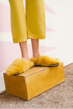 Dorothee Schumacher Furry Fantasy Furry Footbed Sandals
