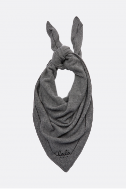 Lala Berlin Triangle Solid Logo M Tørklæde