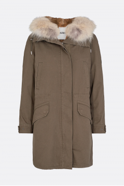 Yves Salomon Army Trimmed Fur Parka