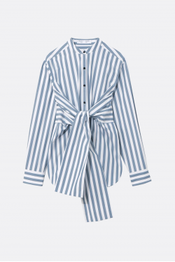 Proenza Schouler White Label Stripe Poplin Tied Skjorte
