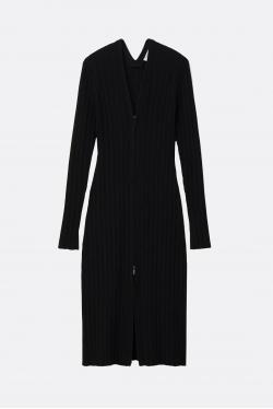 Proenza Schouler White Label Rib Knit Zip Cardigan Dress