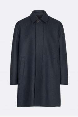 Harris Wharf Pressed Wool Boxy Coat