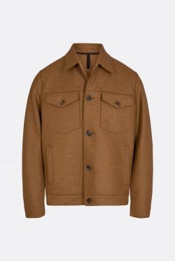 Harris Wharf Pressed Wool Western Jacket