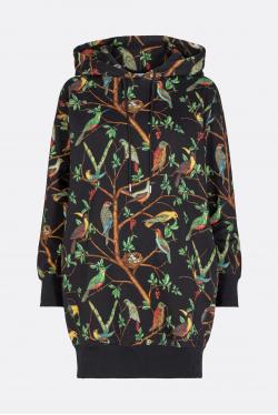 Kenzo Allover Birds Classic Hoodie Dress